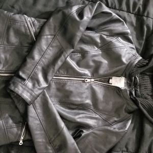Guess leather coat